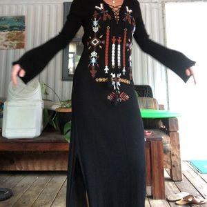 Boho Native American maxi dress